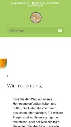 Vorschau der mobilen Webseite www.tierschutzverein-gevelsberg.de, Tierschutzverein Gevelsberg e.V.