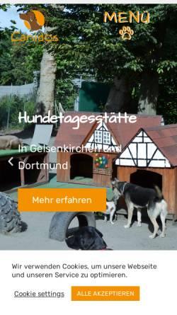 Vorschau der mobilen Webseite www.canidos.de, Hundezentrum Canidos GmbH