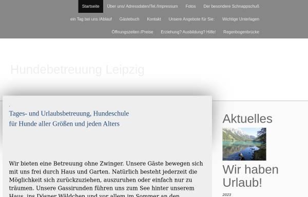 Vorschau von www.hundebetreuungleipzig.de, Hundebetreuung Leipzig