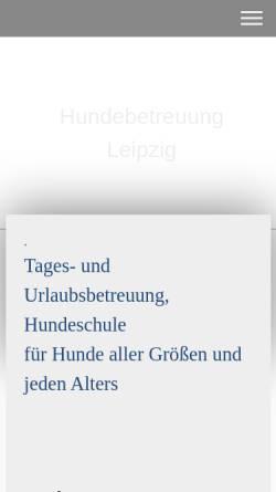 Vorschau der mobilen Webseite www.hundebetreuungleipzig.de, Hundebetreuung Leipzig