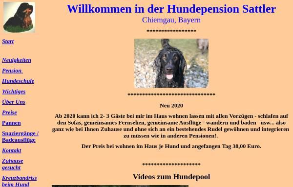 Vorschau von www.hundepension-sattler.de, Hundepension Sattler