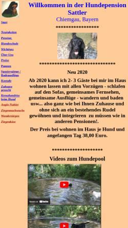Vorschau der mobilen Webseite www.hundepension-sattler.de, Hundepension Sattler