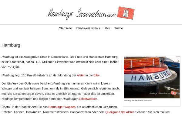 Vorschau von www.hamburger-sammelsurium.de, Hamburger Sammelsurium