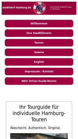 Vorschau der mobilen Webseite www.stadtfahrt-hamburg.de, Individuelle Stadtführungen