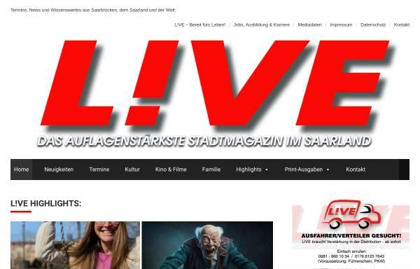 Vorschau von www.live-magazin.de, Live Magazin Saar