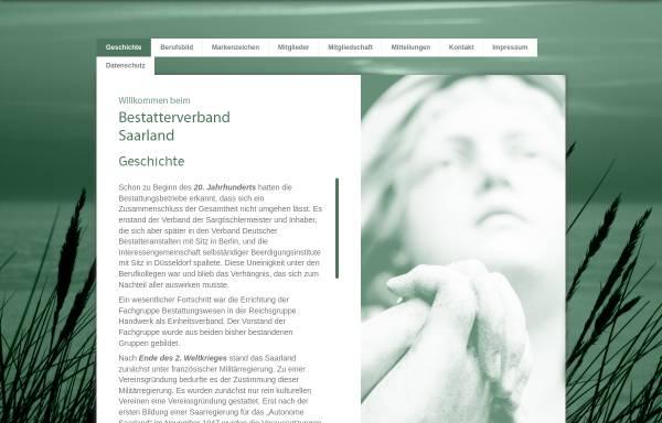 Vorschau von www.bestatterverband-saarland.eu, Bestatterverband e.V.
