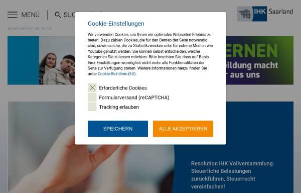 Vorschau von www.ihksaarland.de, IHK Industrie- und Handelskammer