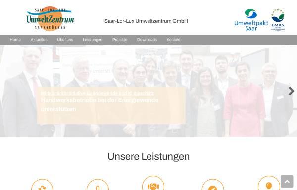 Vorschau von www.saar-lor-lux-umweltzentrum.de, Saar Lor Lux Umweltzentrum des Handwerks
