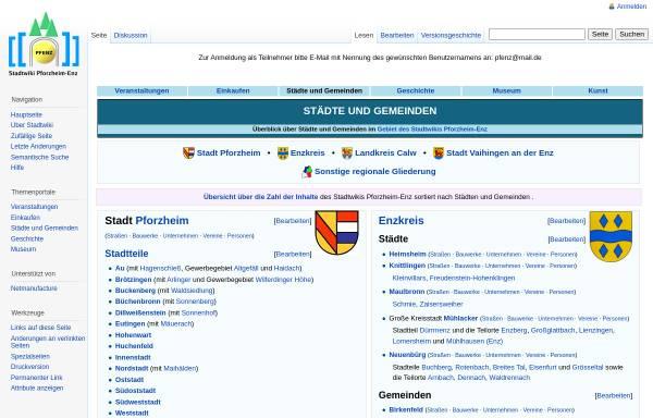 Vorschau von www.pfenz.de, Portal Städte und Gemeinden