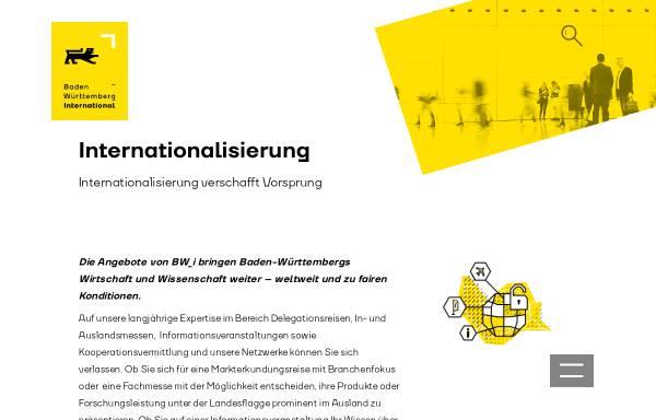 Vorschau von www.bw-i.de, Baden-Württemberg International