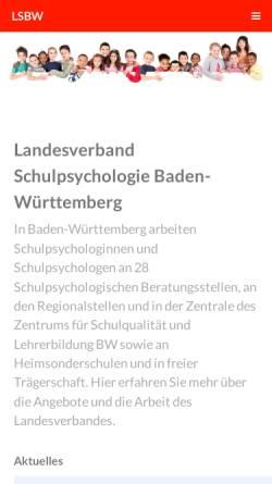Vorschau der mobilen Webseite www.schulpsychologie-bw.de, Landesverband der Schulpsychologen in Baden-Württemberg
