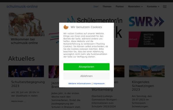 Vorschau von schulmusik-online.de, Schulmusik in Baden-Württemberg