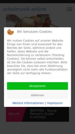 Vorschau der mobilen Webseite schulmusik-online.de, Schulmusik in Baden-Württemberg