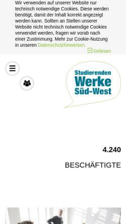 Vorschau der mobilen Webseite www.studentenwerke-bw.de, Studentenwerke Baden-Württemberg