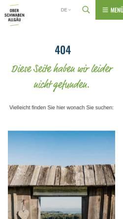 Vorschau der mobilen Webseite www.barockstrasse.de, Oberschwäbische Barockstrasse