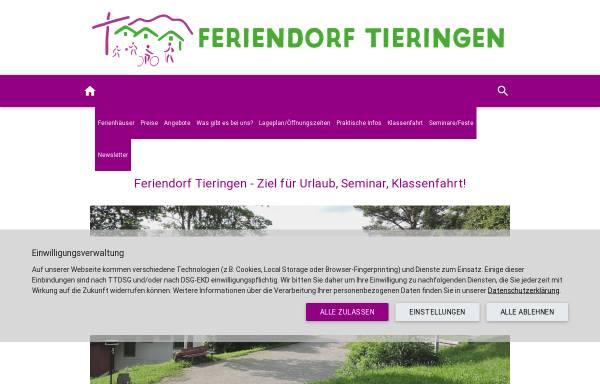 Vorschau von www.feriendorf-tieringen.de, Verein für Familienferienheime in Württemberg e.V.