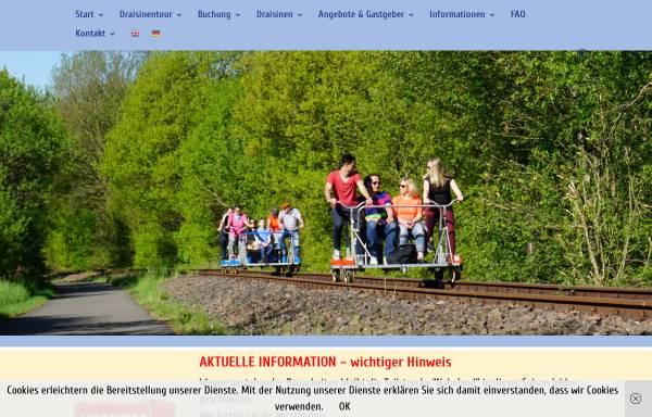 Vorschau von draisinentour.de, Draisinentour - Erlebnis pur