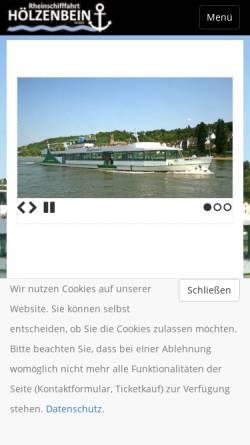 Vorschau der mobilen Webseite www.hoelzenbein.de, Schiffahrt Hölzenbein