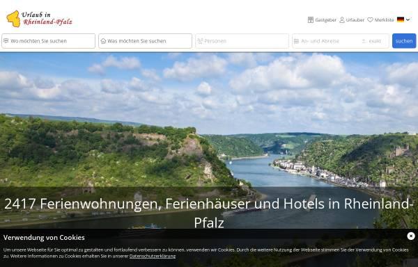 Vorschau von www.urlaub-in-rheinland-pfalz.de, Urlaub in Rheinland-Pfalz