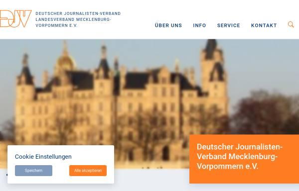 Vorschau von www.djv-mv.de, Deutscher Journalisten-Verband Mecklenburg-Vorpommern