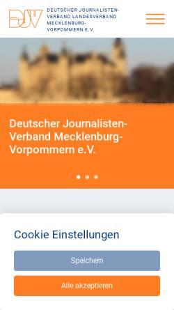 Vorschau der mobilen Webseite www.djv-mv.de, Deutscher Journalisten-Verband Mecklenburg-Vorpommern