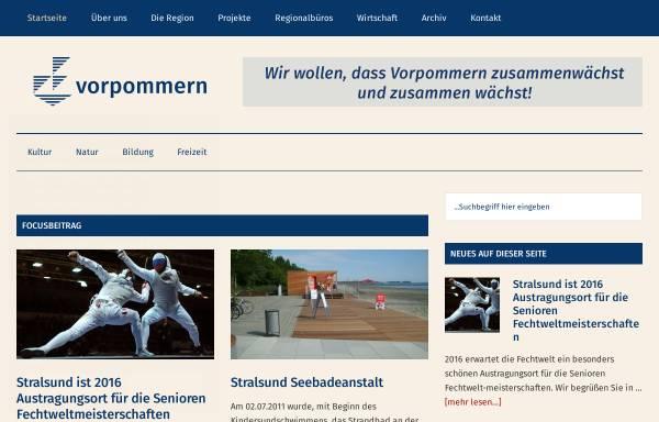 Vorschau von www.region-vorpommern.de, Die Region Vorpommern e.V.