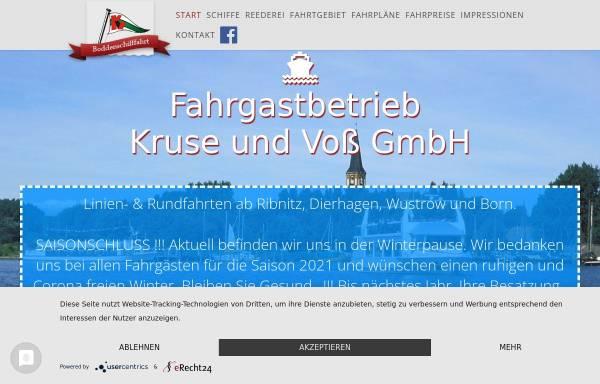 Vorschau von boddenschifffahrt.de, Fahrgastbetrieb Kruse und Voß GmbH
