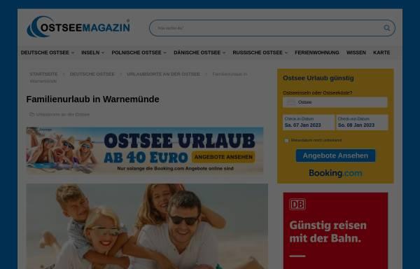 Vorschau von www.familien-ostsee.de, Familienurlaub an der Ostseeküste