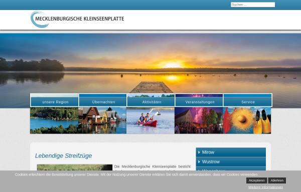 Vorschau von www.klein-seenplatte.de, Mecklenburgische Kleinseenplatte Touristik GmbH