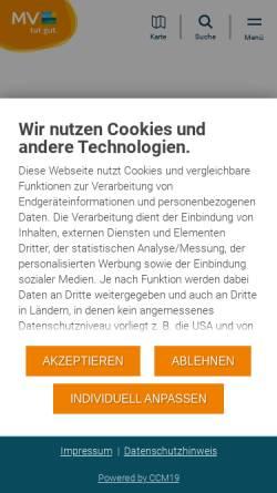 Vorschau der mobilen Webseite www.qualitaetskontor.de, Qualitätskontor Mecklenburg-Vorpommern
