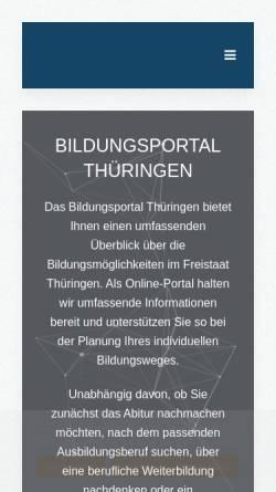 Vorschau der mobilen Webseite www.bildungsportal-thueringen.de, Bildungsportal Thüringen