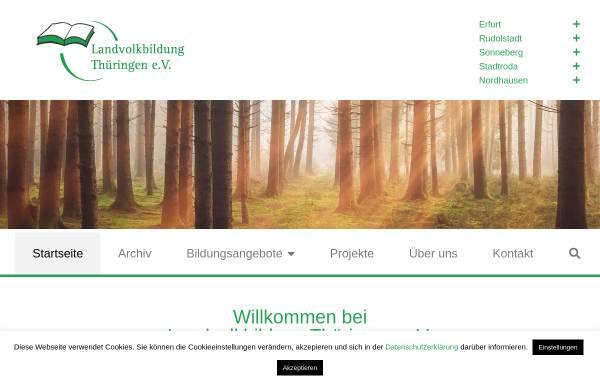 Vorschau von www.landvolkbildung.de, Landvolkbildung Thüringen e.V. (LVB)