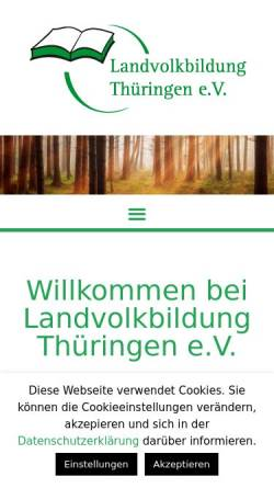 Vorschau der mobilen Webseite www.landvolkbildung.de, Landvolkbildung Thüringen e.V. (LVB)