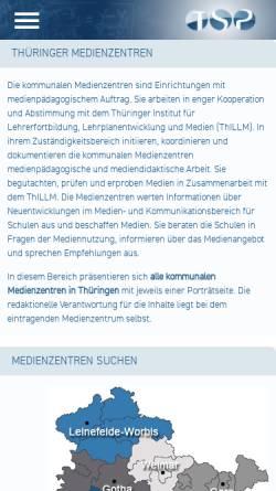 Vorschau der mobilen Webseite www.schulportal-thueringen.de, Medienzentren in Thüringen
