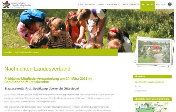 Vorschau von www.schullandheim-thueringen.de, Schullandheime in Thüringen