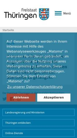 Vorschau der mobilen Webseite www.thueringen.de, Schulwesen in Thüringen