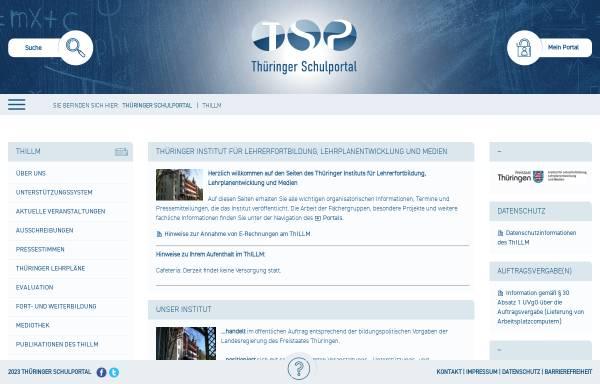 Vorschau von www.thillm.de, Thüringer Institut für Lehrerfortbildung, Lehrplanentwicklung und Medien