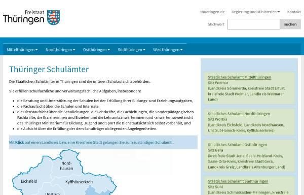 Vorschau von www.thueringen.de, Thüringer Schulämter