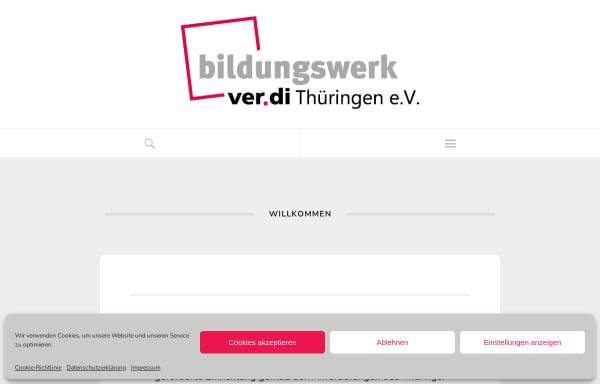 Vorschau von www.verdi-bw-thueringen.de, ver.di - Bildungswerk Thüringen e.V.
