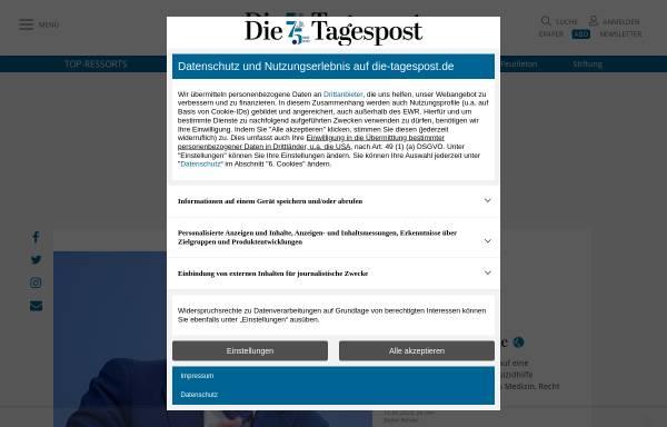 Vorschau von www.die-tagespost.de, Die Tagespost