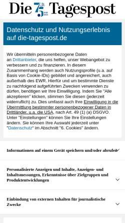 Vorschau der mobilen Webseite www.die-tagespost.de, Die Tagespost