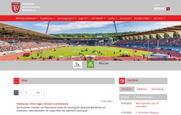 Vorschau von www.tlv-sport.de, Thüringer Leichtathletik-Verband e.V.