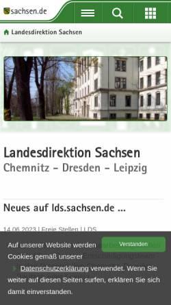 Vorschau der mobilen Webseite www.ld-dresden.de, Landesdirektion Dresden