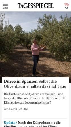Vorschau der mobilen Webseite www.tagesspiegel.de, Der Tagesspiegel