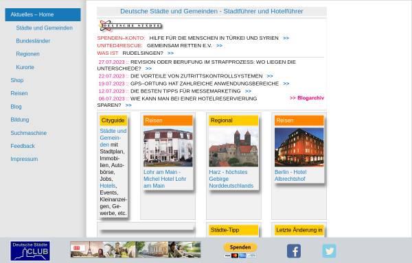 Vorschau von www.deutsche-staedte.de, Deutsche Städte