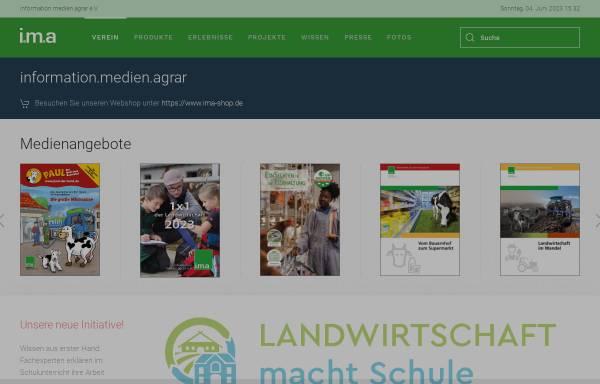 Vorschau von www.ima-agrar.de, Information, Medien, Agrar e.V.