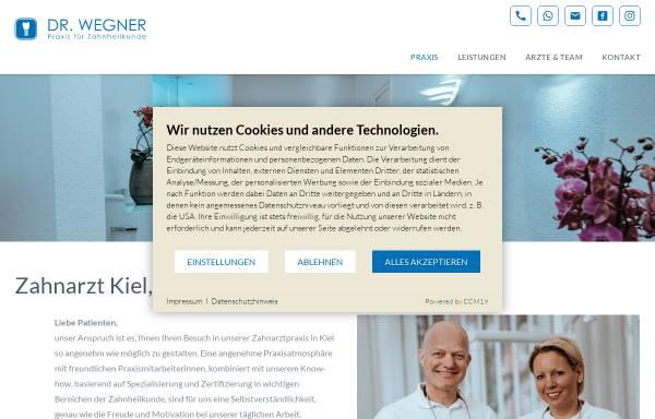 Vorschau von www.praxis-wegner.de, Zahnärzte Dres. Stefan & Pia Wegner