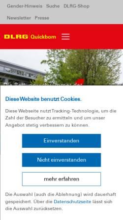 Vorschau der mobilen Webseite quickborn.dlrg.de, DLRG Quickborn e.V.