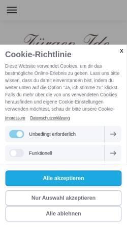 Vorschau der mobilen Webseite www.idemed.de, Heilpraktiker Jürgen Ide