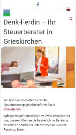 Vorschau der mobilen Webseite www.denk-ferdin.at, Kanzlei Dr. Denk und Mag. Ferdin